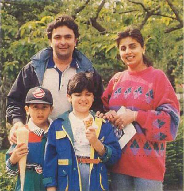 Rishi Kapoor and Neetu Singh with Ranbir Kapoor