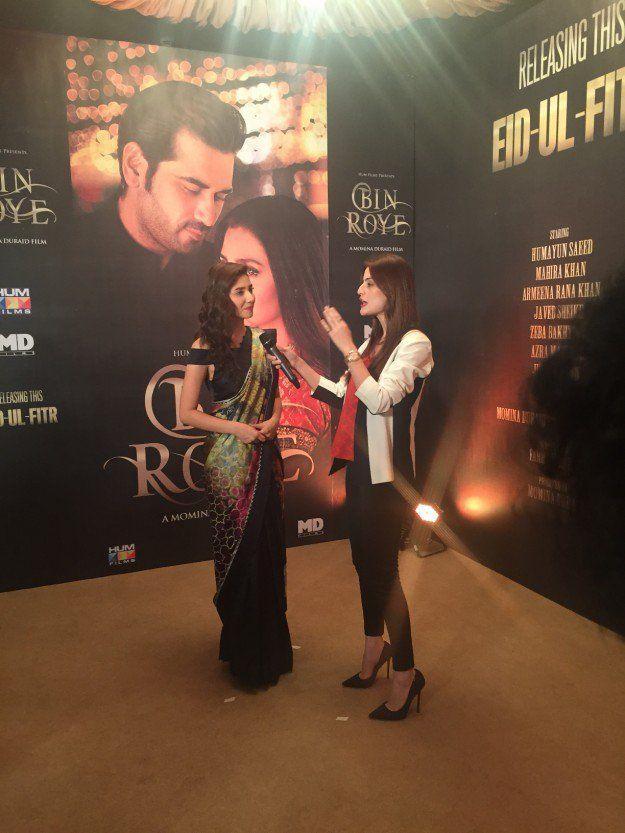 Mahira Khan at the Press Conference Pic Credits: Express