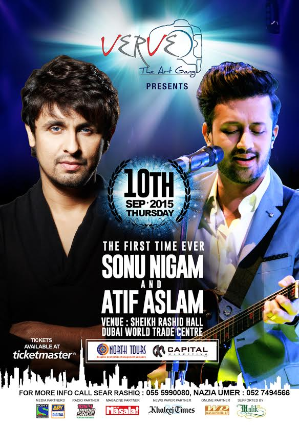 Catch Sonu Nigam and Atif Aslam at a Musical Extravaganza Organized by VERVE the Art Gang