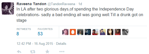 Raveena Tandon Gives A Piece of Her Mind To Inebriated Event Organiser in LA!