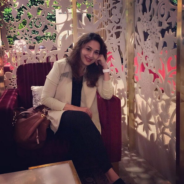 Have You Seen Madhuri Dixit's Airport Selfie?