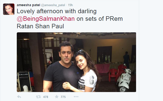 When Ameesha Patel Visited The Sets of Prem Ratan Shan Paul