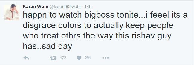 Shocking! TV Actor Karan Wahi Disses Bigg Boss 9 As Disgraceful!