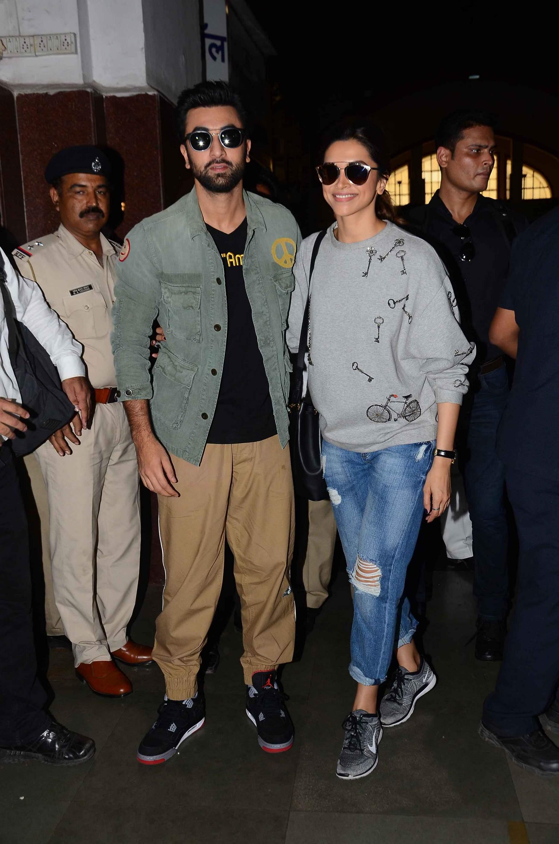 Ranbir Kapoor and Deepika Padukone during promotions of Tamasha