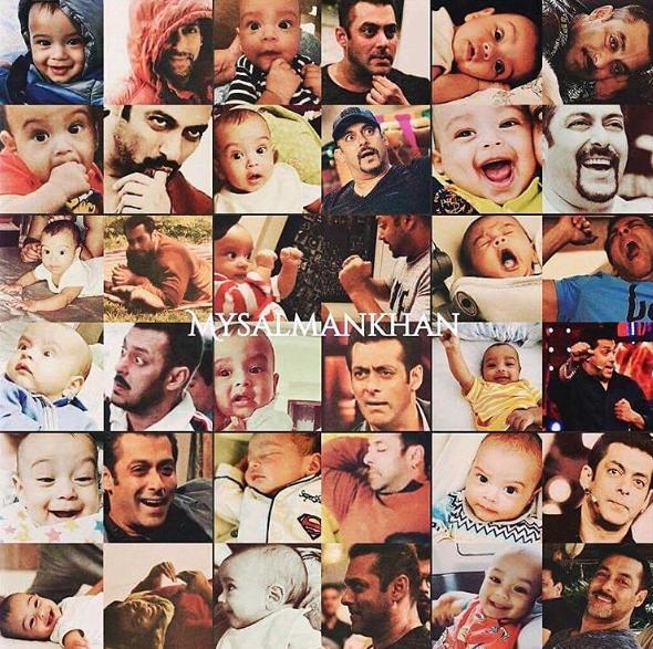 Arpita Khan Sharma Shares a SUPER CUTE Collage of Salman Khan and Baby Ahil