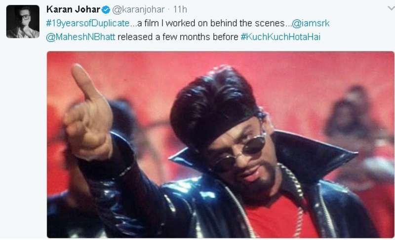 Why is Karan Johar Nostalgic About Shah Rukh Khan's 'Duplicate'?