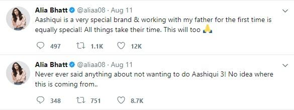 Did Alia Bhatt and Sidharth Malhotra Have an Argument Over Aashiqui 3?
