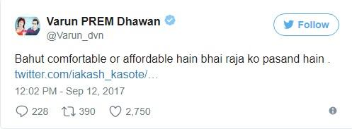 Uh-Oh! Varun Dhawan Trolled For Wearing 'Cheap' Underwear!