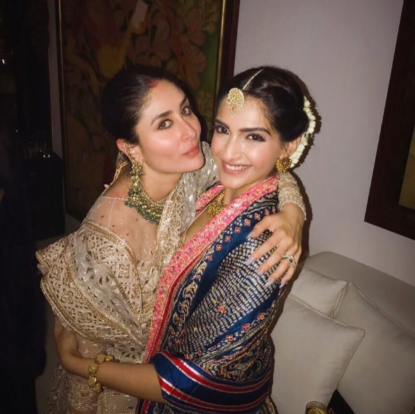 Kareena Kapoor Khan and Jacqueline Fernandez Squash Rumours of Fall Outs at Sonam Kapoor's Diwali Bash
