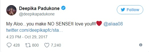 Check Out Deepika Padukone's Hilariously Cute Response to Alia Bhatt and Irrfan Khan's Tweet