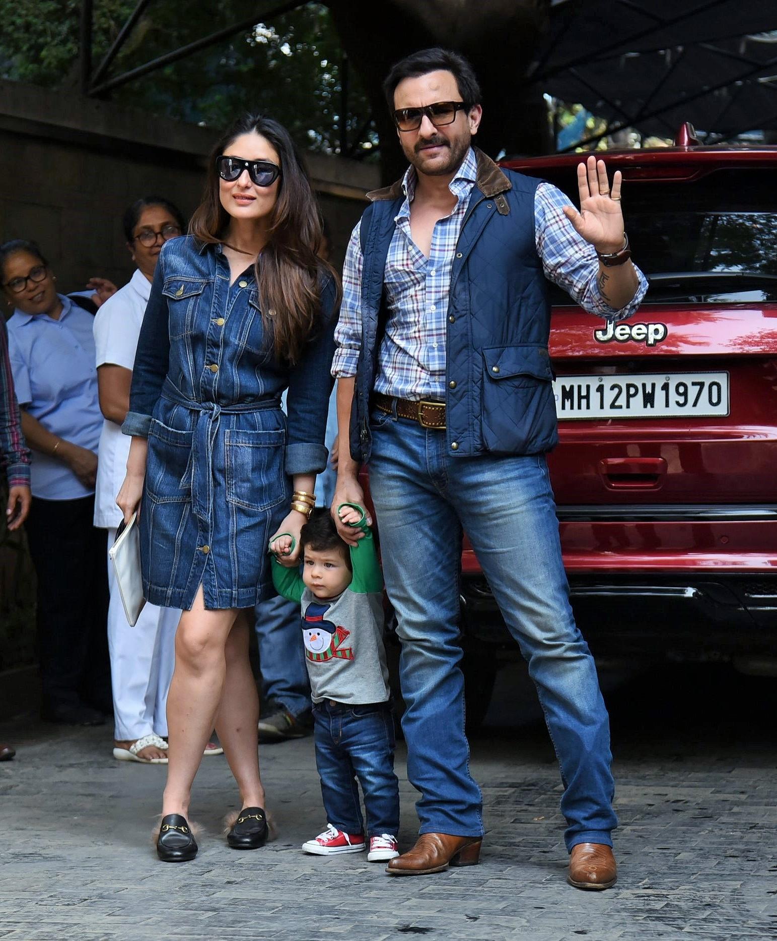 Kareena Kapoor, Saif and Taimur Ali Khan