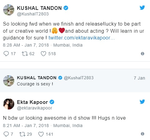 Ekta Kapoor's Witty Response to Kushal Tandon About Naagin Will Leave You In Splits