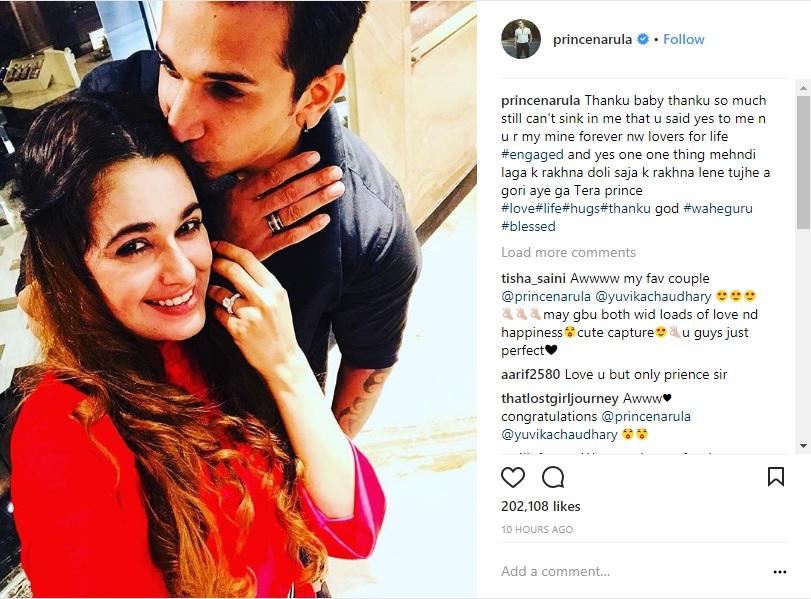 Bigg Boss Fame Prince Narula and Yuvika Chaudhary are Officially Engaged