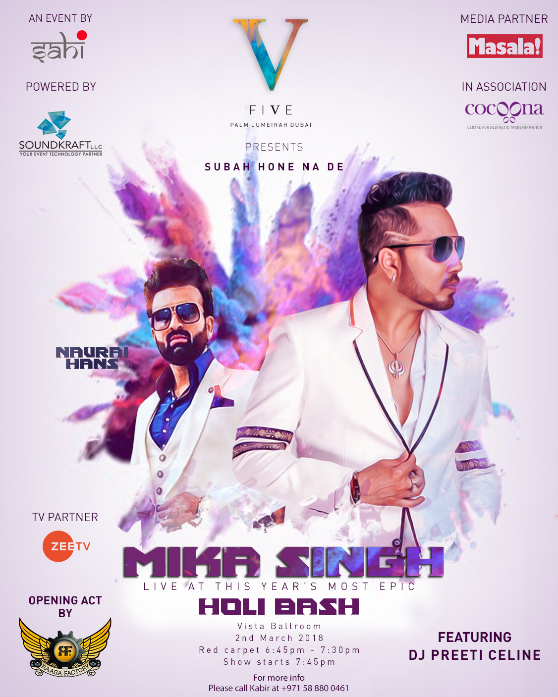 How to Party with Mika Singh and Navraj Hans this Holi in Dubai!