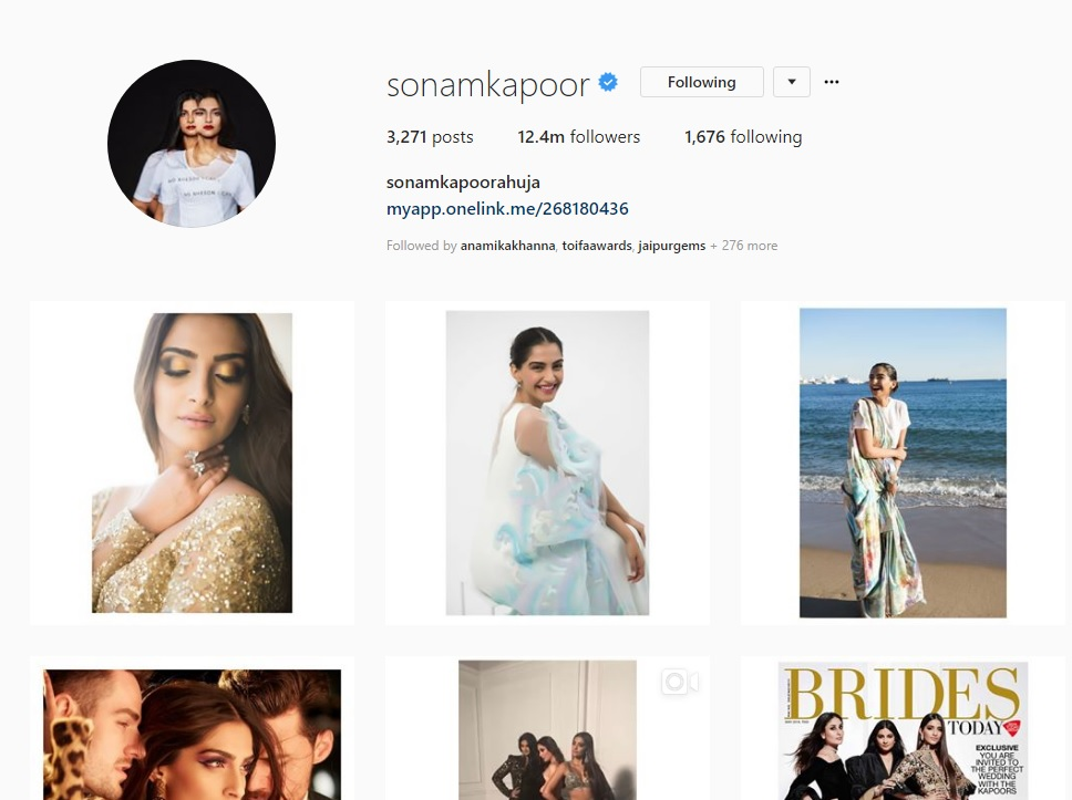 Sonam Kapoor Already Changed the Name on Her Instagram Handle! Can You Guess it?