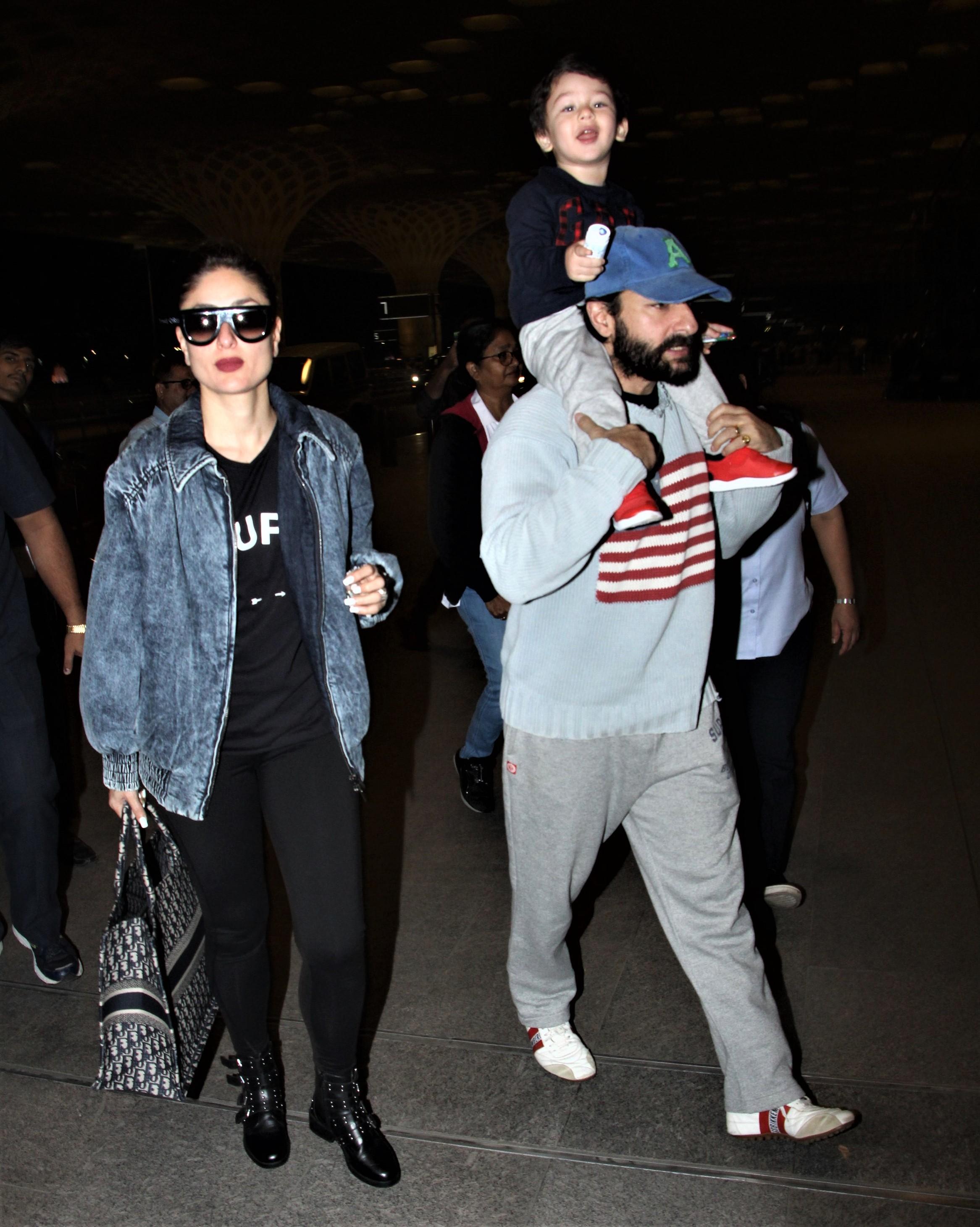 Airport Diaries: The Pataudi Family Make For A Stylish Appearance, Rajkummar Rao and Anushka Sharma Keep It Simple But Nail The Airport Look!