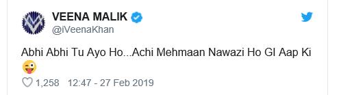 #Airstrike: Veena Malik Slammed For Gross Insensitive Tweet About Captured Pilot
