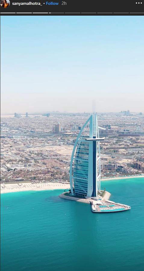 Bollywood Actress Sanya Malhotra is in Dubai; Makes Her First Stop at Skydive Dubai