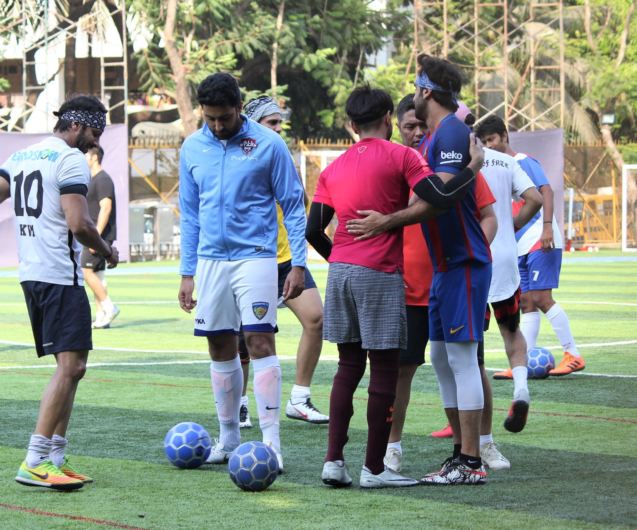Ranbir Kapoor, Abhishek Bachchan And More Play A Game Of Football