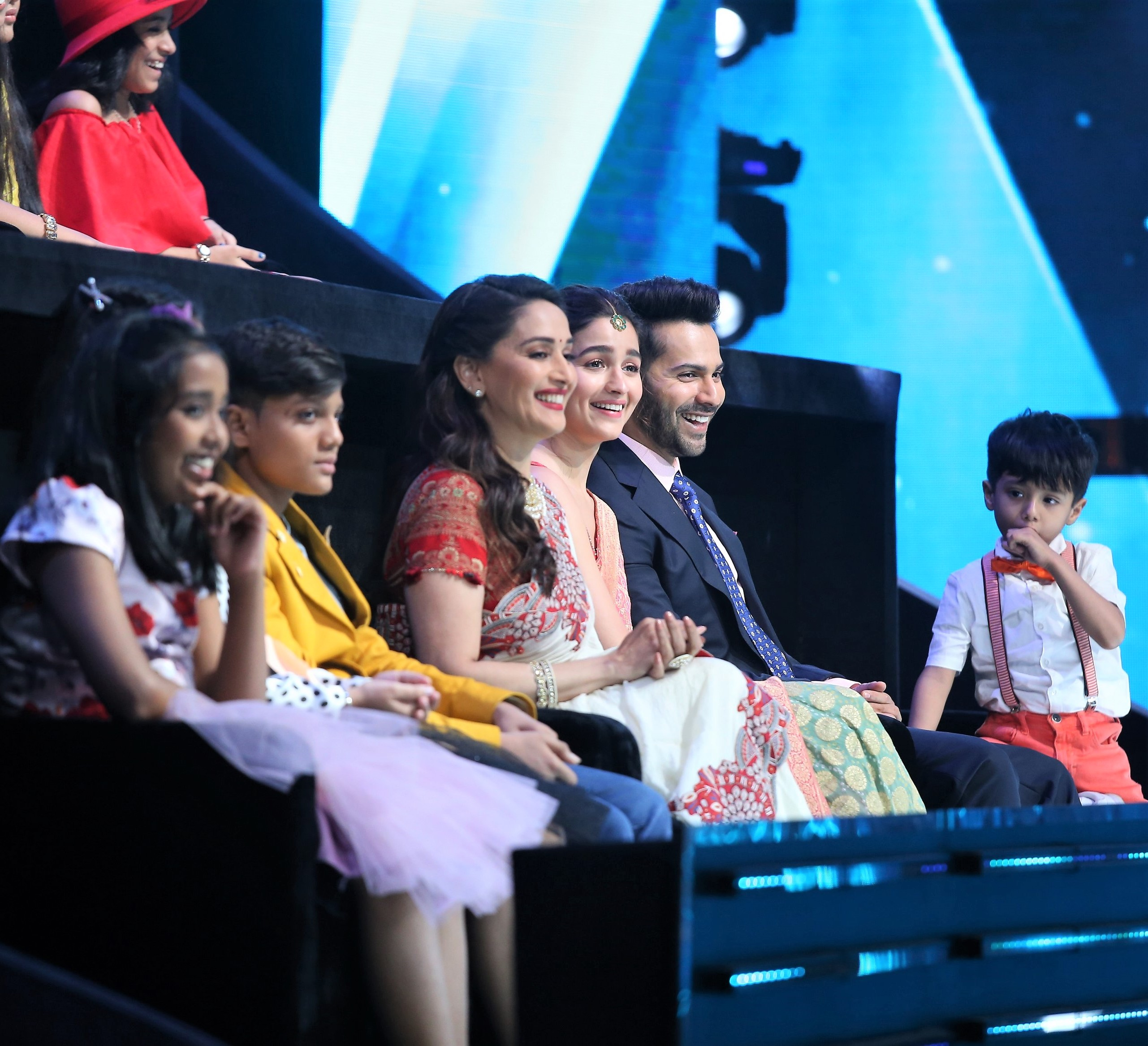 Madhuri Dixit, Alia Bhatt and Varun Dhawan Take To The Stage For 'Kalank' Promos