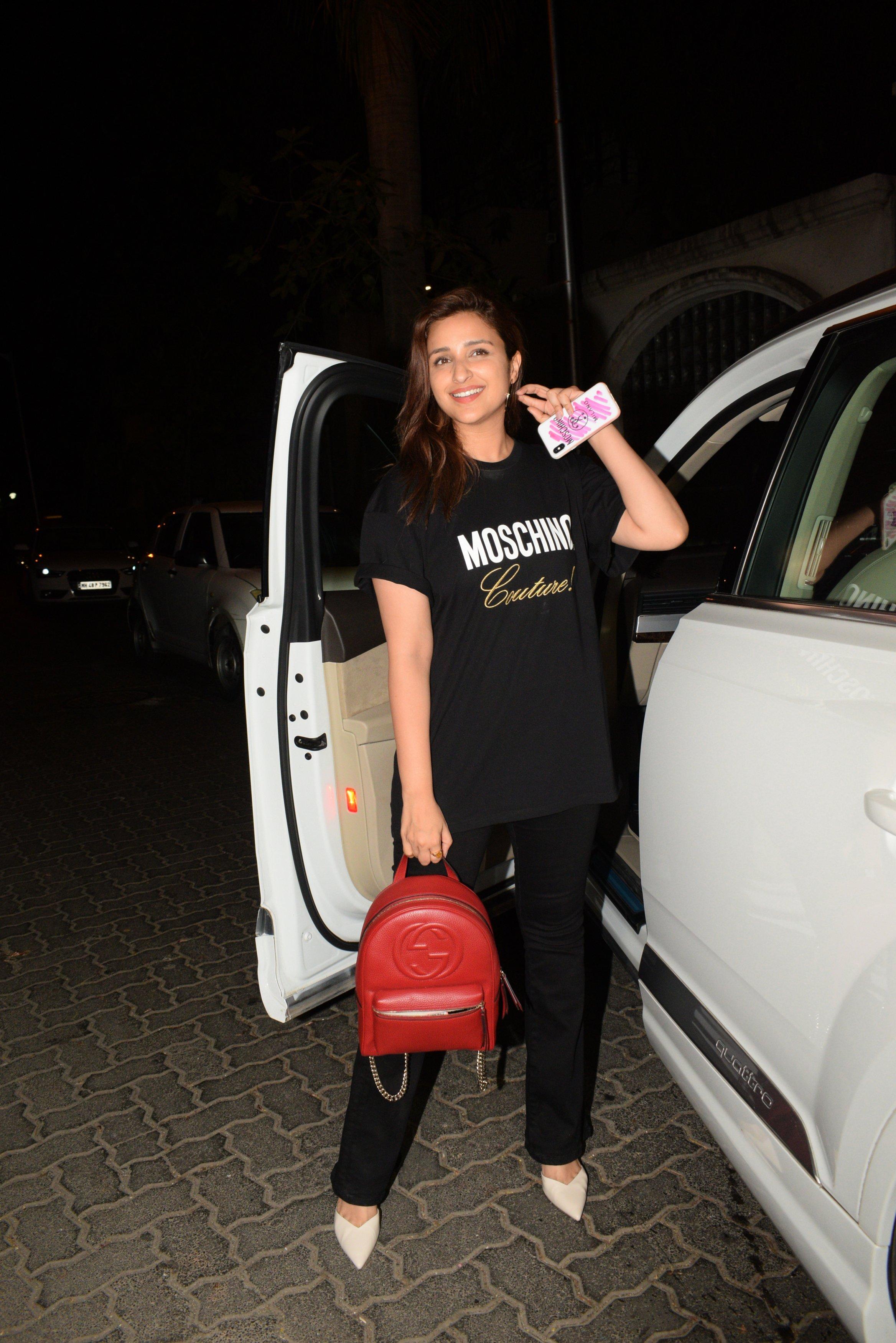 Parineeti Chopra Papped Outside Priyanka Chopra's House! See Pics