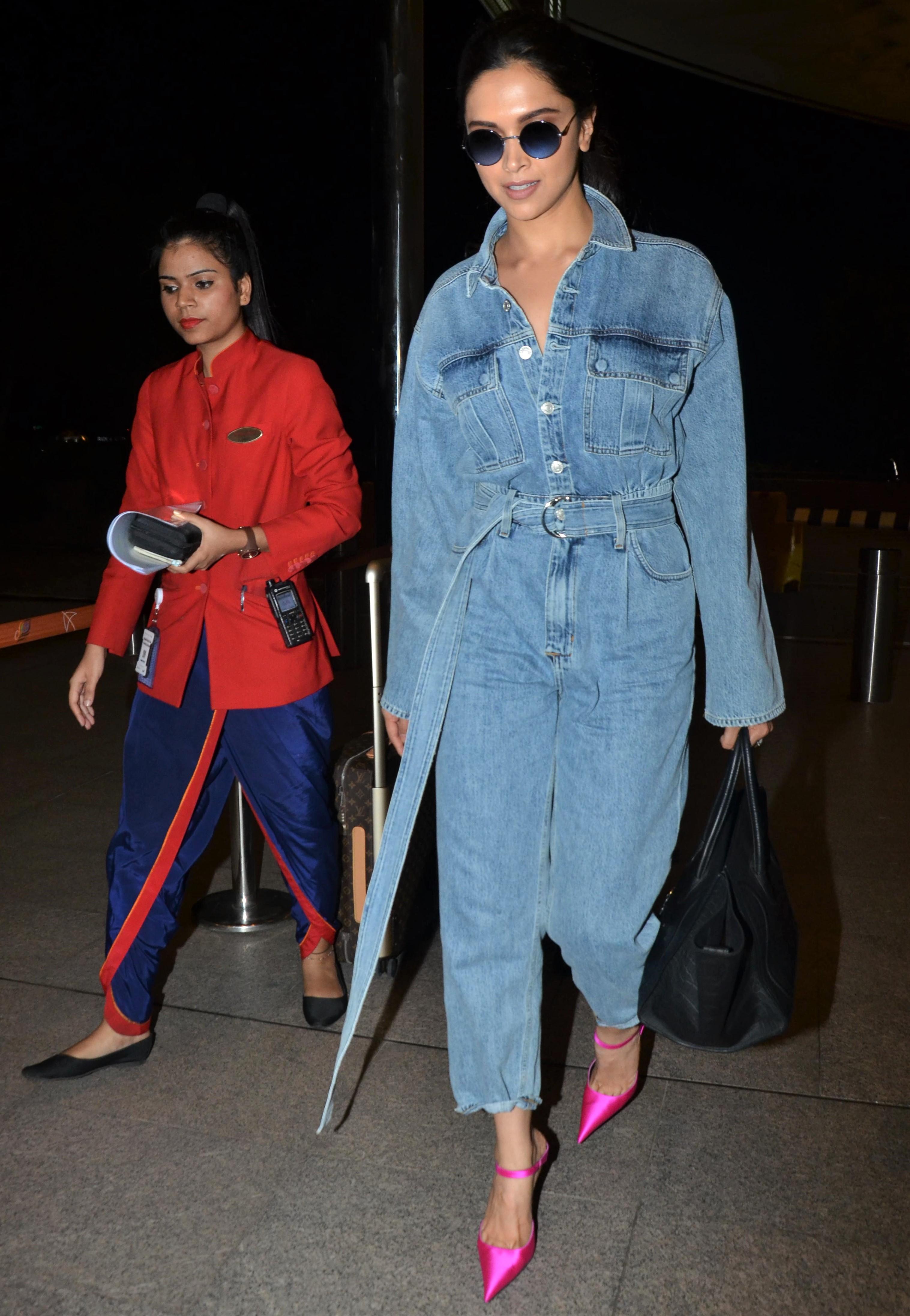Deepika Padukone Is Winning the Double Denim Trend!