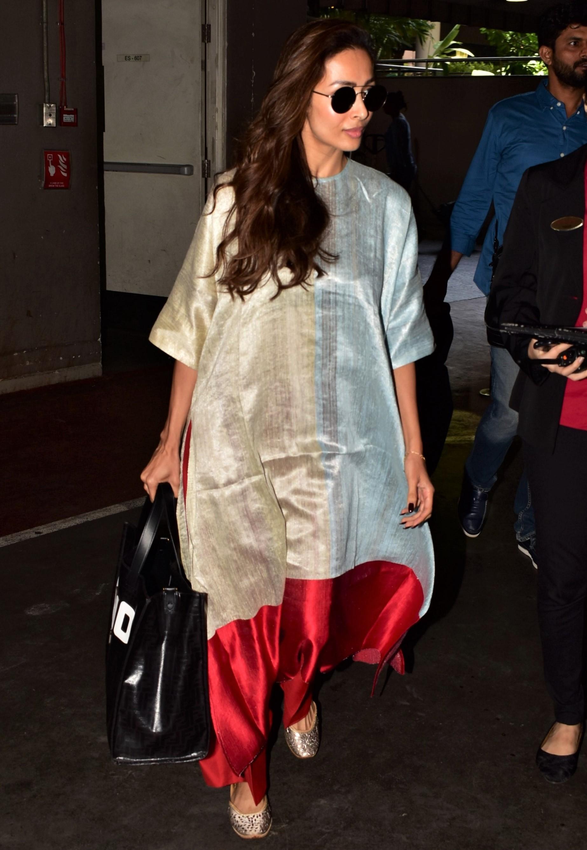 Malaika Arora Dazzles in Kurta-Inspired Airport Look