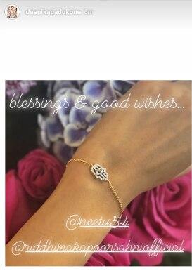 Check This Out! Neetu Kapoor Gifts a Diamond Bracelet to Deepika Padukone