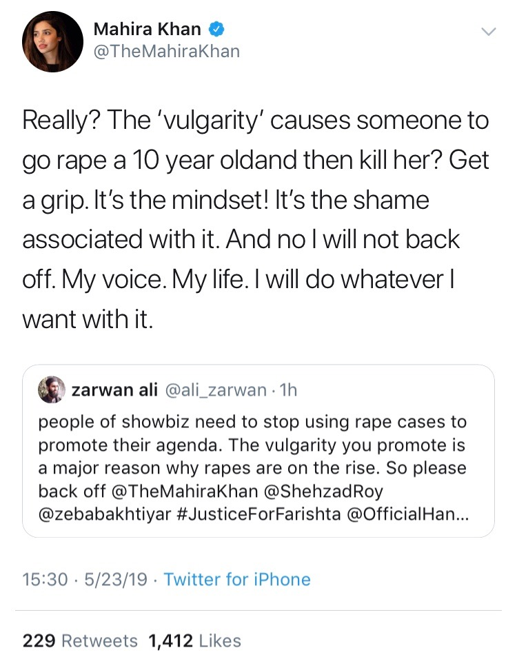 Mahira Khan's Reply to This Misogynist Troll on Twitter is to STAN For!