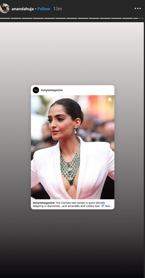 Anand Ahuja Shares an Edited Photo of Himself with Sonam Kapoor at the Cannes 2019