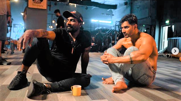 Remo D'Souza and Varun Dhawan during dance rehearsals