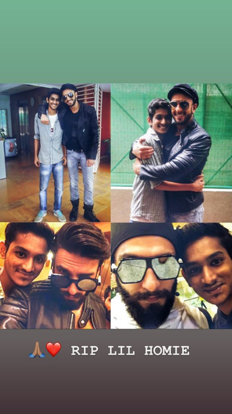 Ranveer Singh Pays Tribute to Young Fan Who Passed Away Suddenly