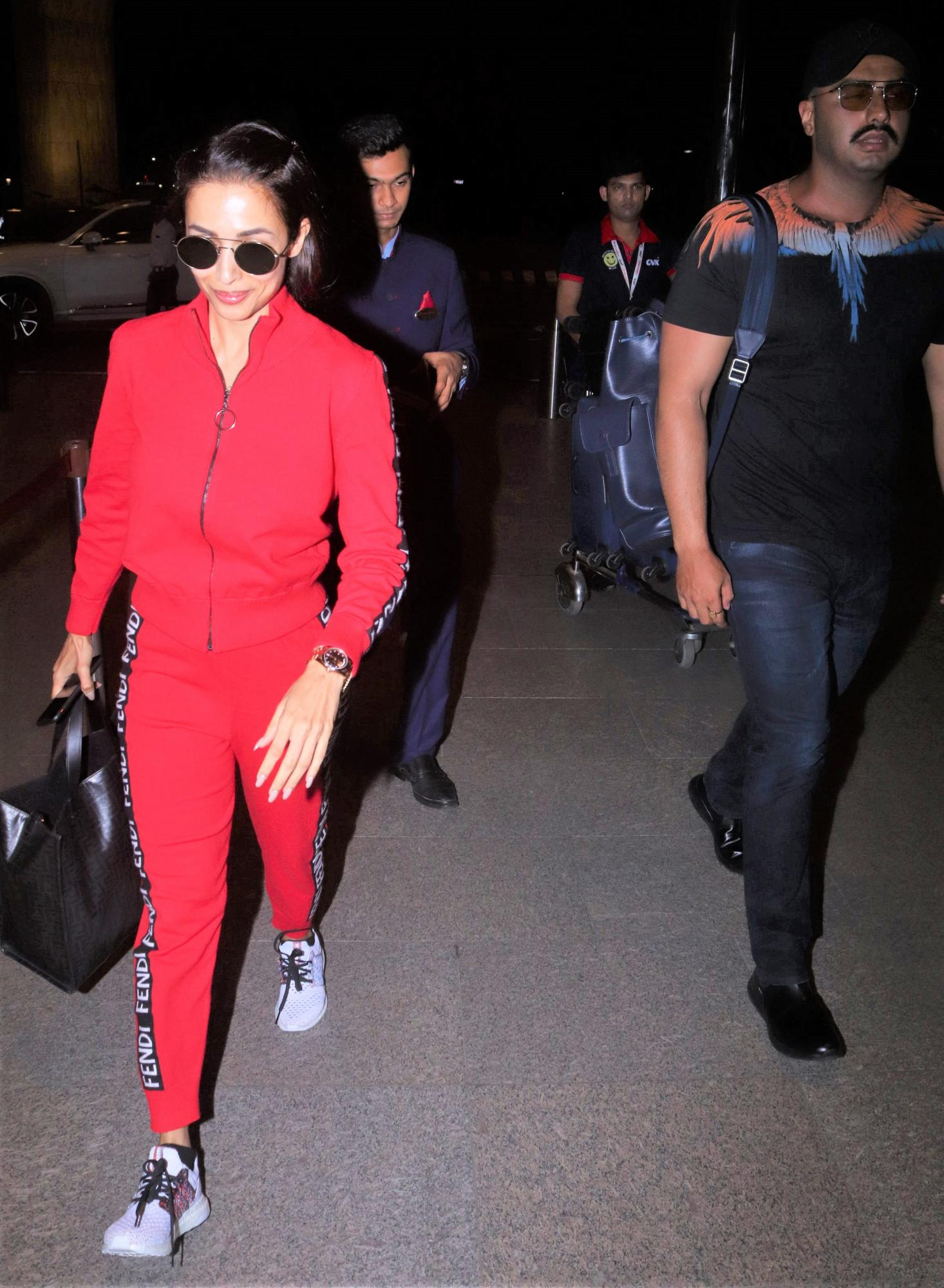 Malaika Arora and Arjun Kapoor Keep It Casual Chic In Latest Airport Look