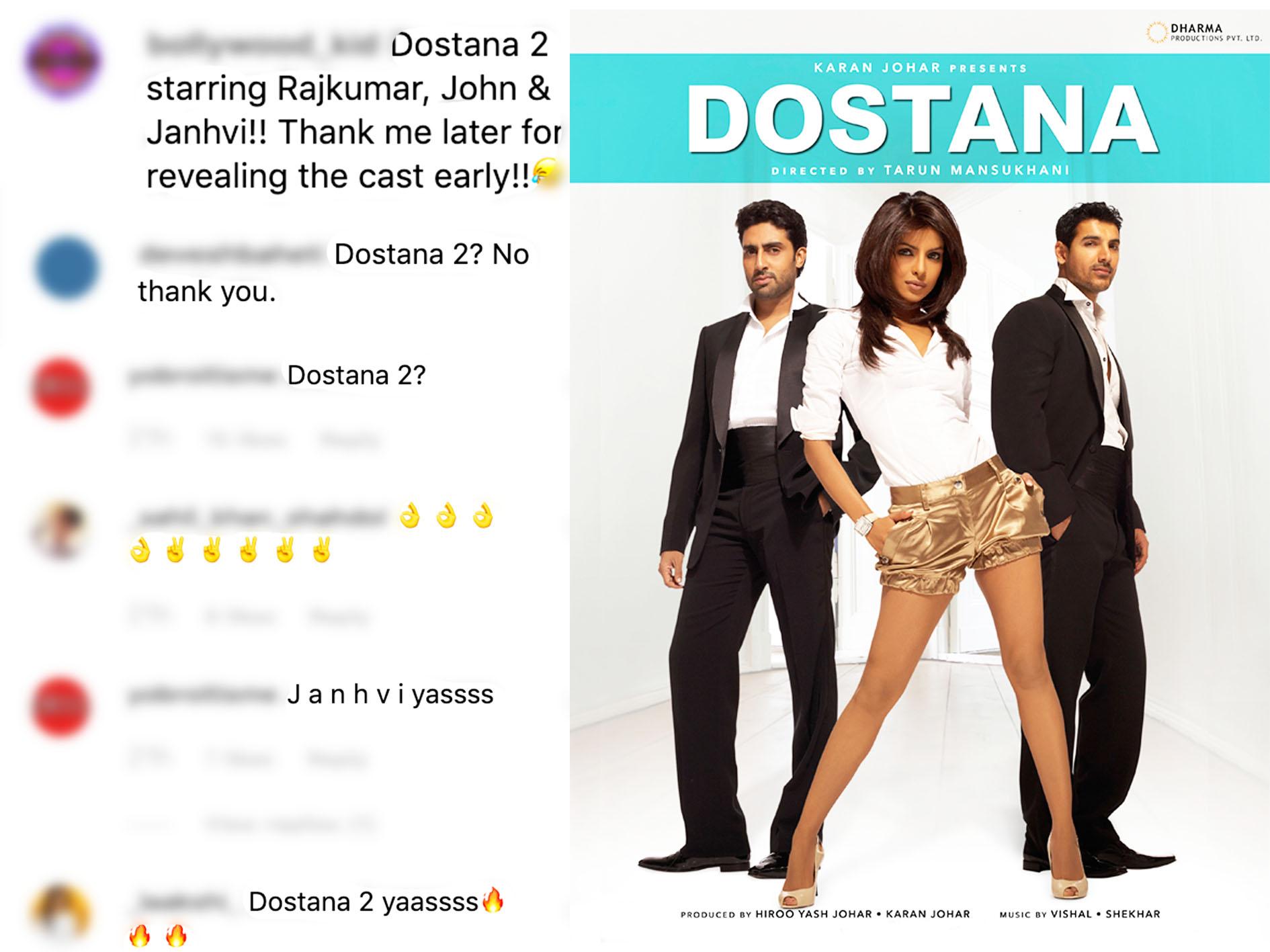 Dostana 2! Karan Johar Picks Kartik Aaryan and Janhvi Kapoor for Sequel