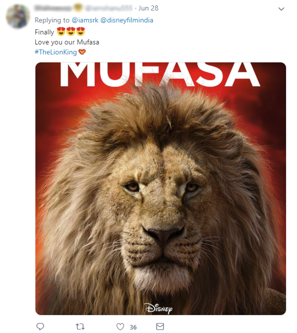 Shah Rukh Khan Breathes Life into Mufasa's Character as Trailer Releases
