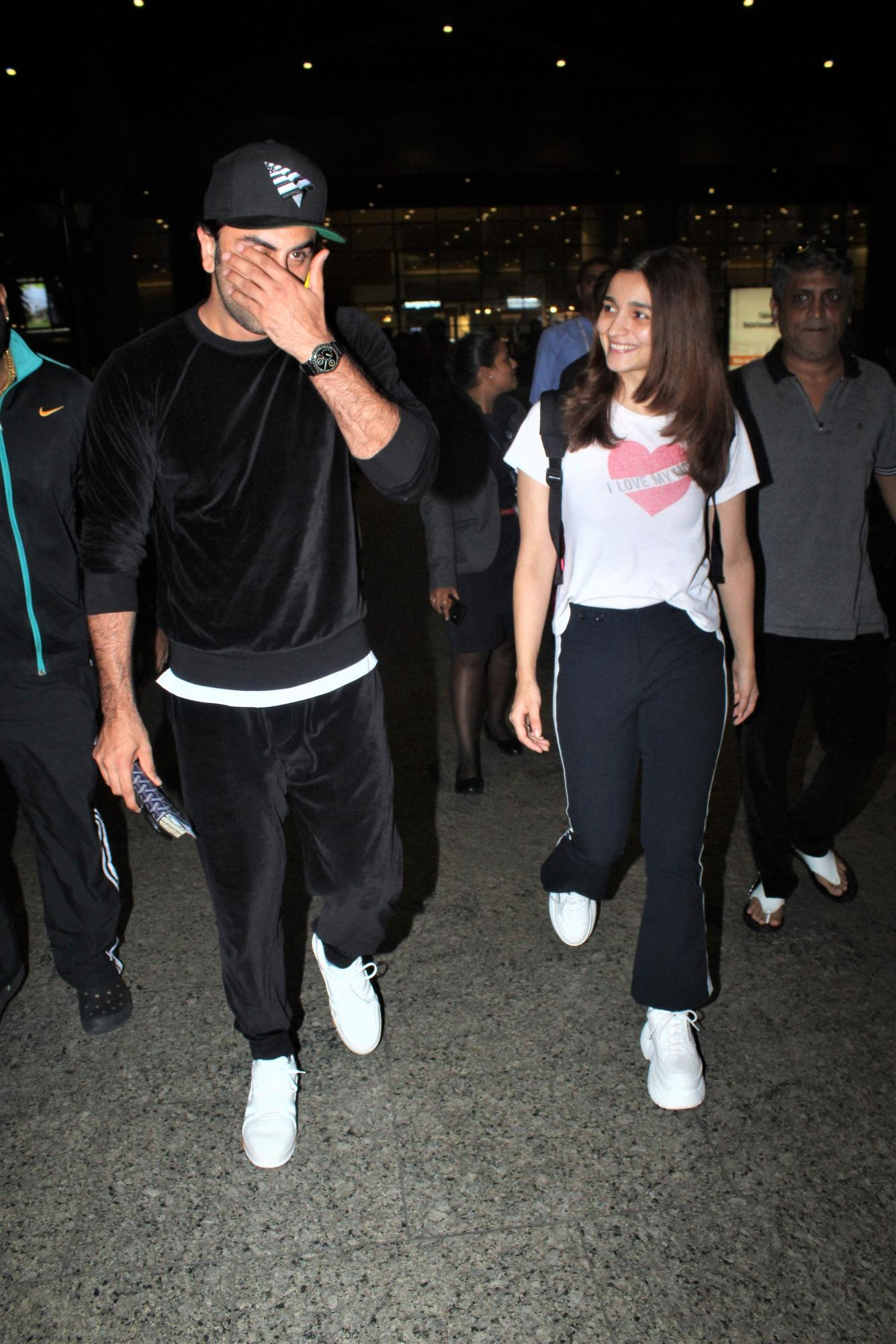 Alia Bhatt and Ranbir Kapoor Return from New York City, See Pics