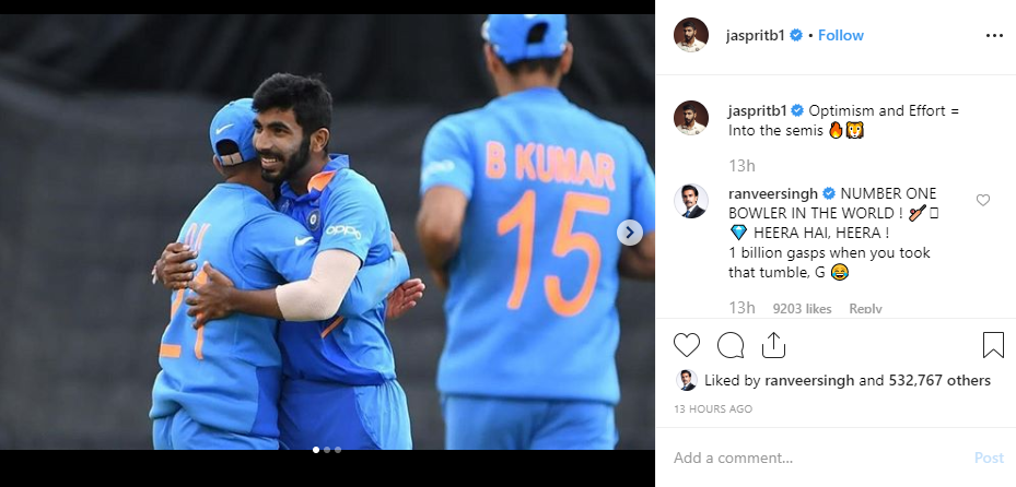 Ranveer Singh, Raveena Tandon and Preity Zinta Applaud and Congratulate the Indian Cricket Team