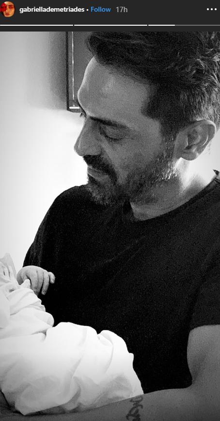 Gabriella Demetriades Shares First Glance at Baby Boy in Arjun Rampal's Arms