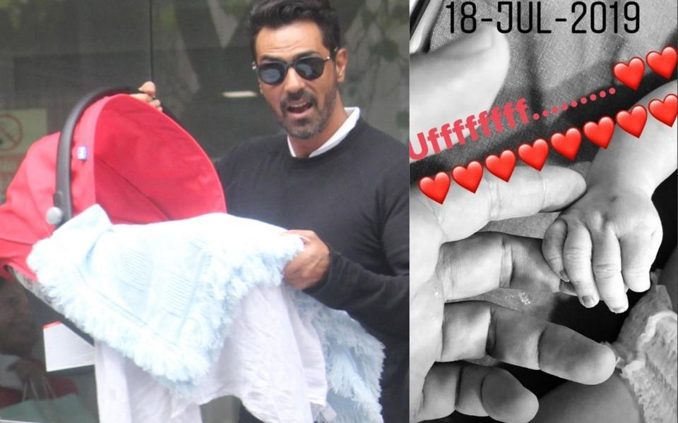 Arjun Rampal Shares First Pic with Newborn and It Is Oh-So-Adorable!