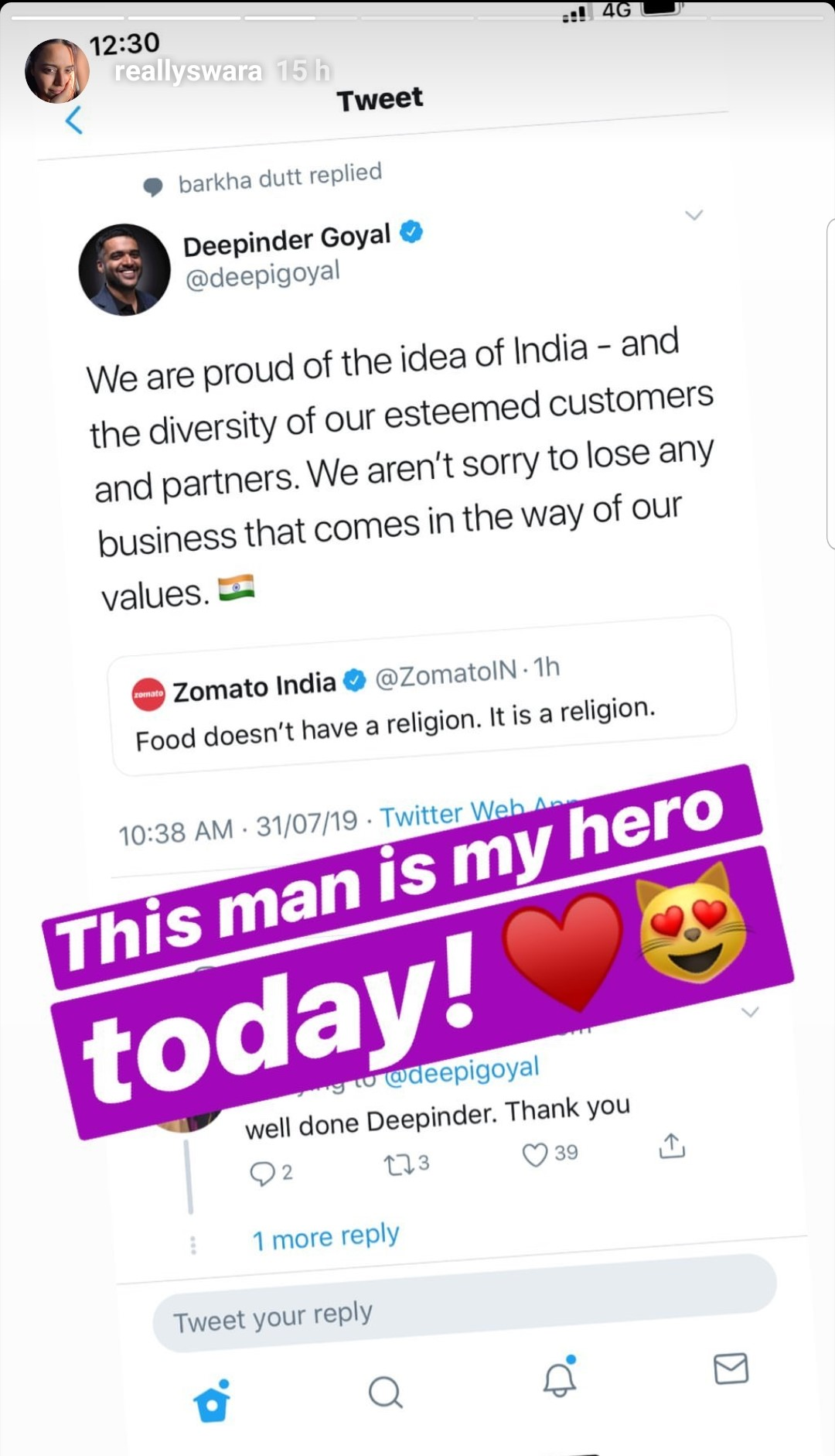 Zomato's Response to THAT Delivery Incident Receives Praise From Bollywood Celebs