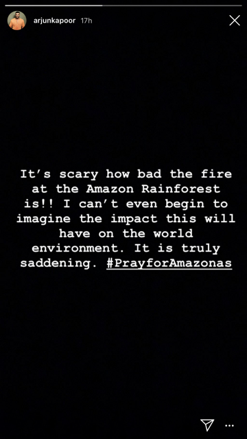 Celebrities React to Amazon Forest Fires With Heartfelt Messages