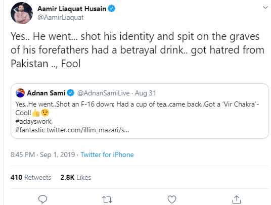 Adnan Sami Khan vs Aamir Liaquat