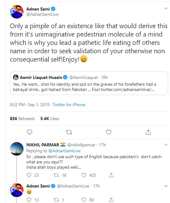 Adnan Sami Khan's Tweet