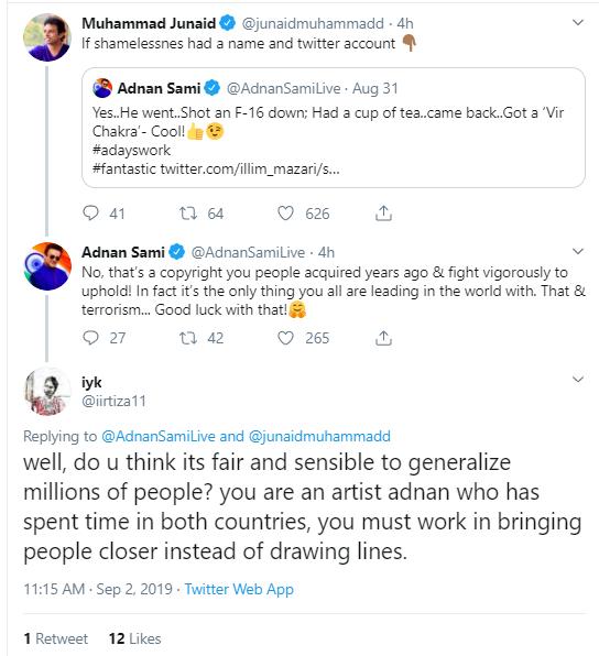 Adnan Sami Khan's Tweet 1