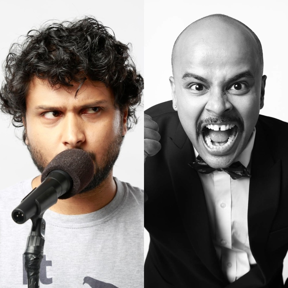 Comedy Kings Sorabh Pant and Neville Shah in Dubai
