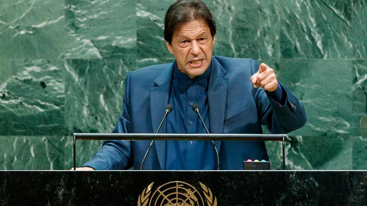 Pakistani PM Imran Khan at the UN