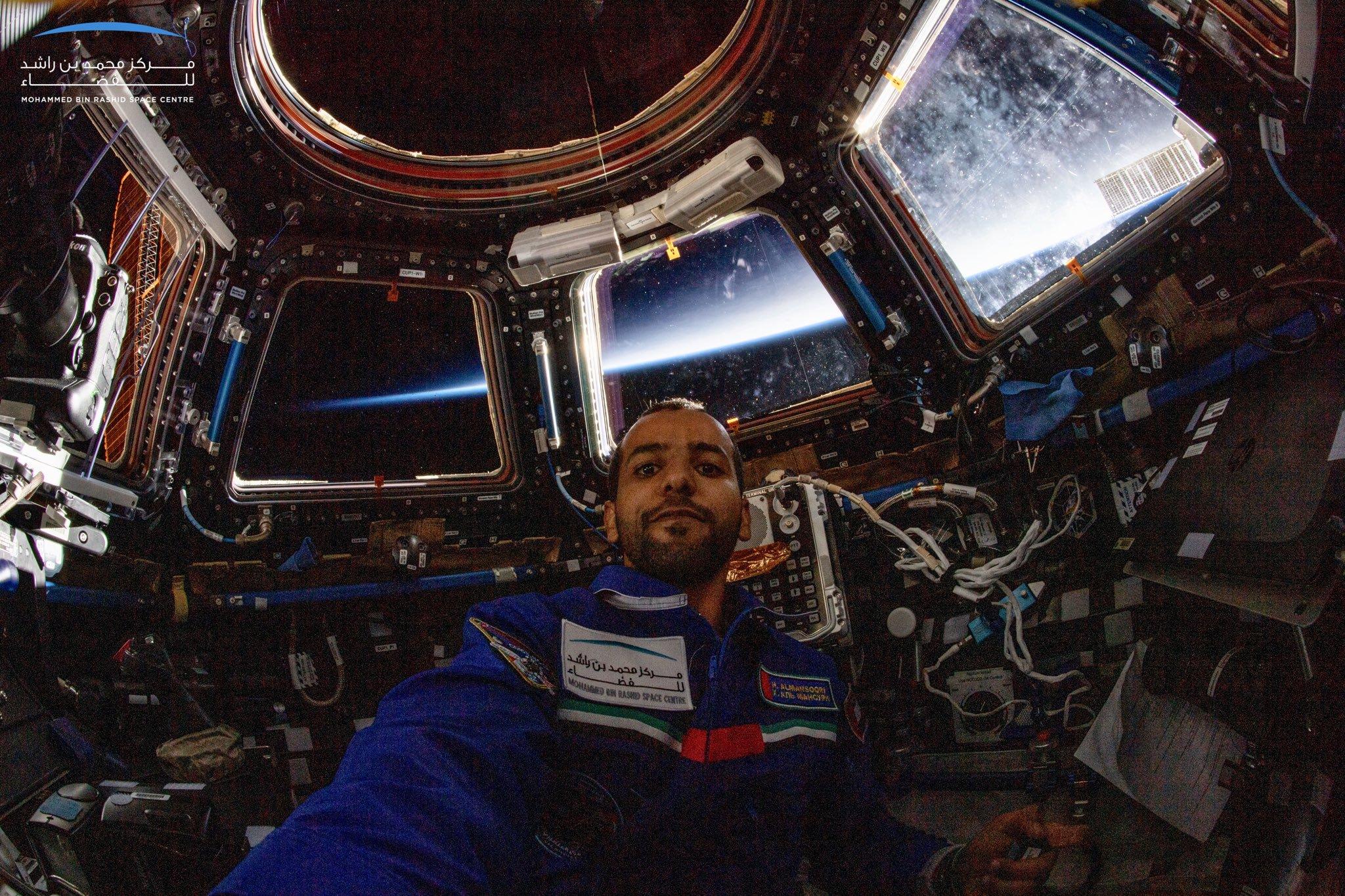 Hazza Al Mansouri in space.