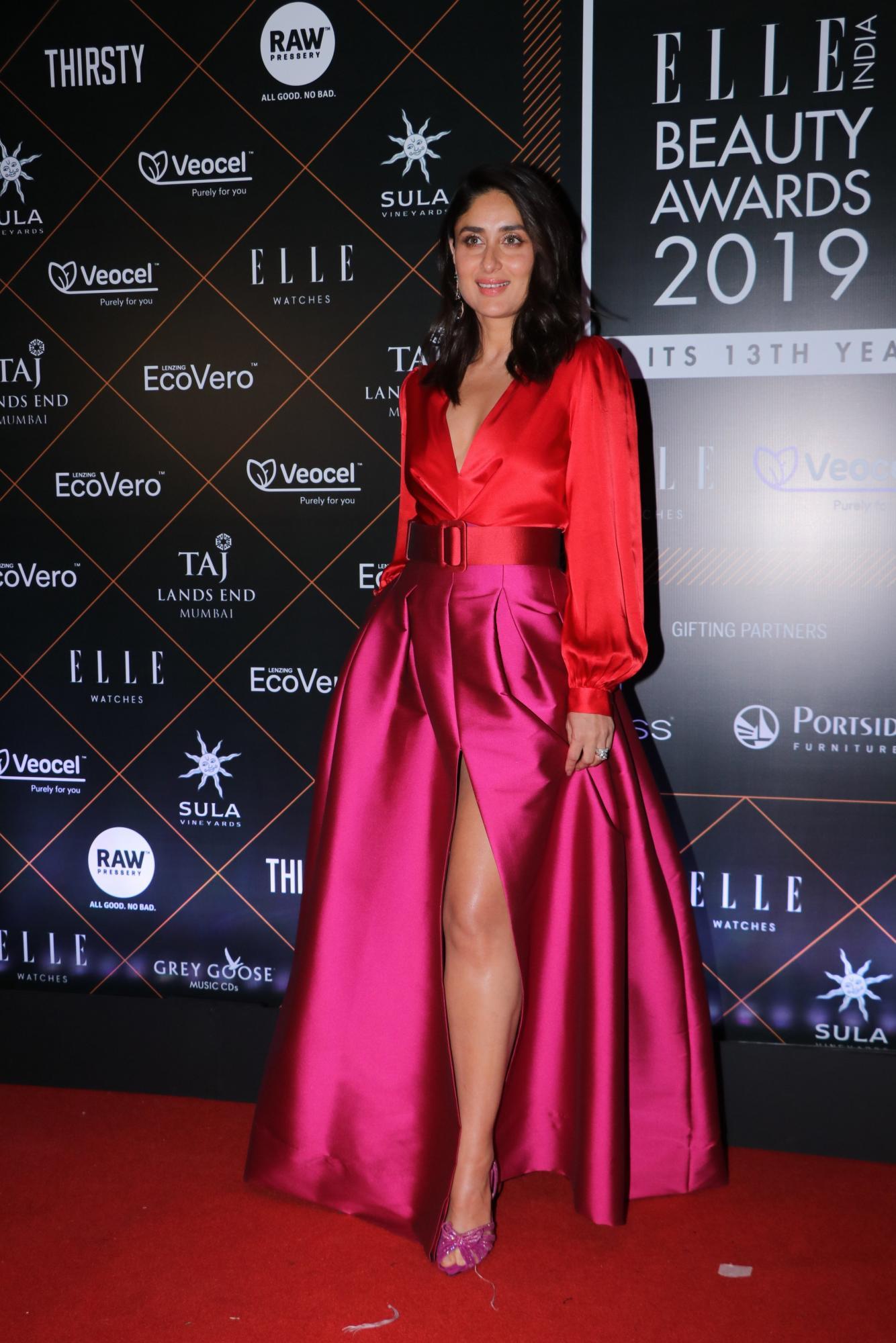 Kareena Kapoor rocks solid coloured dress at recent event