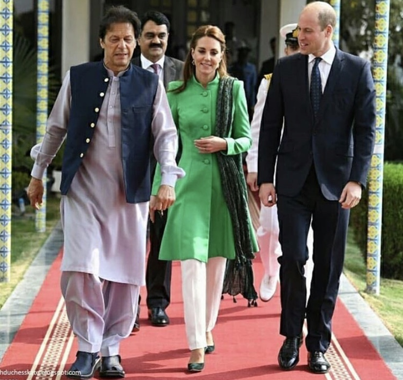 Kate Middleton and Prince William with Imran Khan