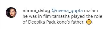 Neena Gupta Searches for Trikaal Co-star Nikhil Bhagat, Fans Find Him in Deepika's Tamasha